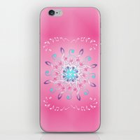 music notes iPhone & iPod Skins featuring Music Notes In Pink by HK Chik
