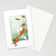 Egret and Persimmons Stationery Cards