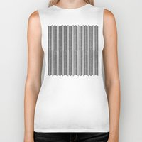 stripe Biker Tanks featuring Herringbone Stripe by Project M