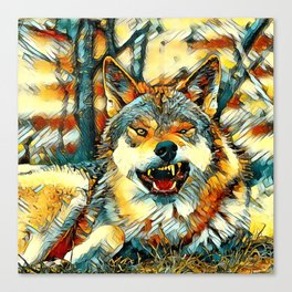 AnimalArt_Wolf_20170606_by_JAMColors Canvas Print