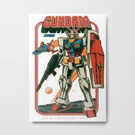 RX 78-2 Gundam Retro Metal Print