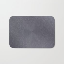 Cool Brushed Metal with a Stamped Design Bath Mat