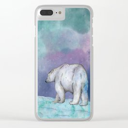 North Pole Clear iPhone Case