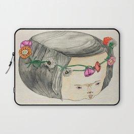 Flower Crown Frown Laptop Sleeve