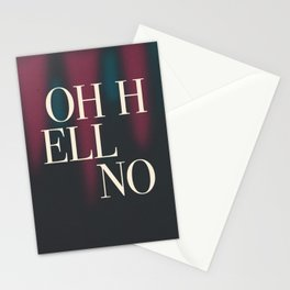 Oh Hell No Stationery Cards