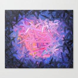 Pinkish Swipes Canvas Print