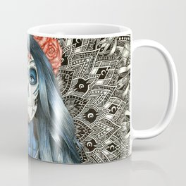 Full Page Day of the Dead Woman Mandala Coffee Mug
