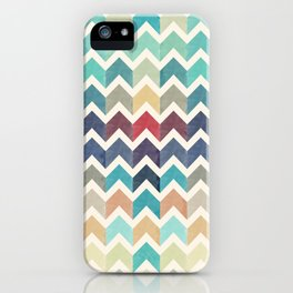 Watercolor Chevron Pattern iPhone Case