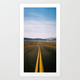 DEATH VALLEY APPROACH #01 – Kodak PRO 400 MC - 120 film Art Print