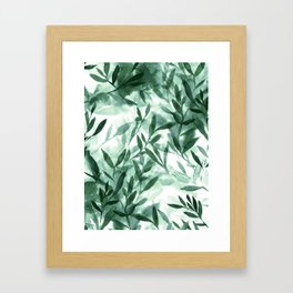 Changes Hunter Green Framed Art Print