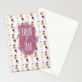 Treat Yo Self - pattern Stationery Cards