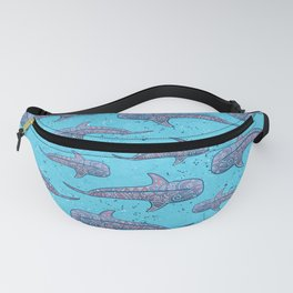 Whale Shark - pink and blue Fanny Pack