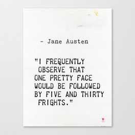 Jane Austen quote Canvas Print
