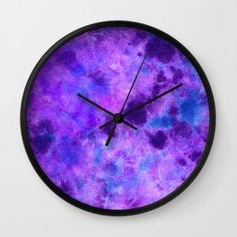 Tanzanite DyeBlot Wall Clock