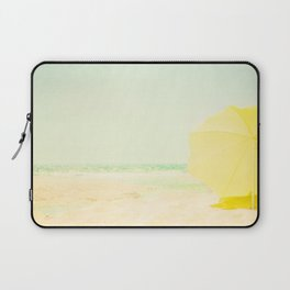 beach - the yellow umbrella Laptop Sleeve