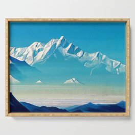 Nicholas Roerich - Mount Of Five Treasures - Digital Remastered Edition Serving Tray