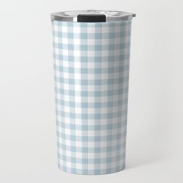 Baby Blue Gingham Check Travel Mug