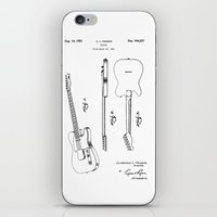 guitar iPhone & iPod Skins featuring Guitar by Patent Drawing