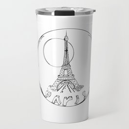 Paris in a Glass Ball Without a Shadow Travel Mug