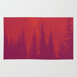 Purple Forest On Red Background #decor #society6 Rug