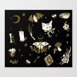 Midnight Moon Witch Canvas Print