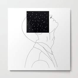 What is he thinking about? Metal Print
