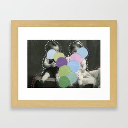 Lumps Framed Art Print