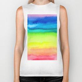 Rainbow Gradient Madness Watercolor by Imaginarium Creative Studios Biker Tank