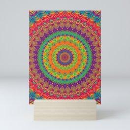Mandala 458 (NEON) Mini Art Print
