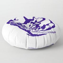 face8 blue Floor Pillow