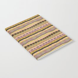 Stripey-Earthy Colors Notebook