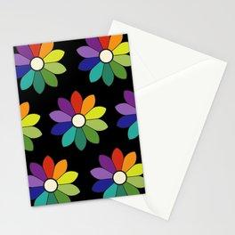 Flower pattern based on James Ward's Chromatic Circle (enhanced) Stationery Cards