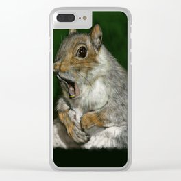Squirrel Friend Clear iPhone Case