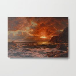 Sunrise over the Sea by Ivan Fedorovich Choultsé Metal Print