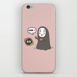 Studio Ghibli No-Face in Love of SootBall iPhone Skin