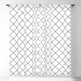 PPG Night Watch Pewter Green Thin Line Stripe Grid (Pinstripe Pattern) on White Blackout Curtain