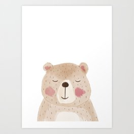Woodland Cuties || Barry Bear Art Print