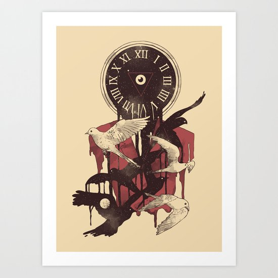 Existence in Time and Space Art Print