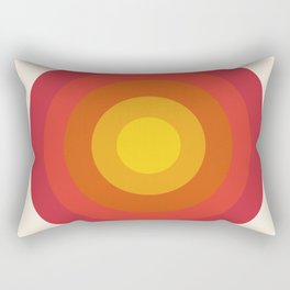 Right On - retro throwback 70s 1970s bullseye beach 70's vibes minimal art by Seventy Eight Rectangular Pillow