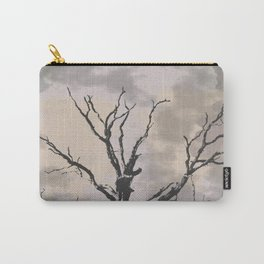 Stormy Skies, Abstract Art Tree Storm Clouds Carry-All Pouch
