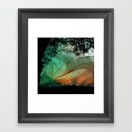Sunset stormy skies Framed Art Print
