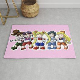 Legolized Sailor Scouts Rug