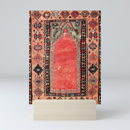 Sivas  Antique Cappadocian Turkish Niche Kilim Print Mini Art Print