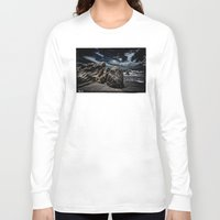 alone Long Sleeve T-shirts featuring Alone by SpaceFrogDesigns