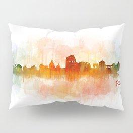 Rome city skyline HQ v03 Pillow Sham