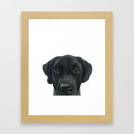 Labrador New, Acrylic painting by miart Framed Art Print