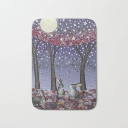 starlit bunnies Bath Mat