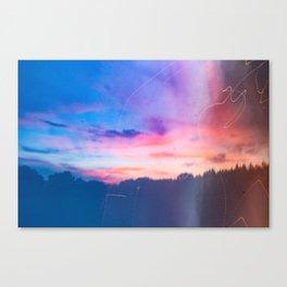 Cotton Candy Sunset Canvas Print