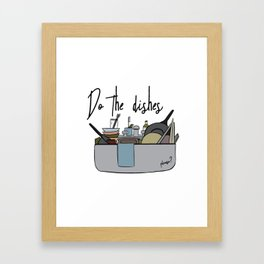 Do the dishes Framed Art Print