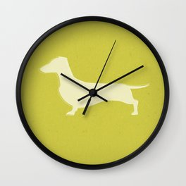 White Recycled Dachshund Wall Clock